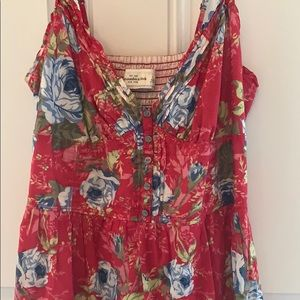 Abercrombie & Fitch Dresses - Abercrombie & Fitch - red sundress size L